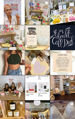 A grid of independent shops at The Indie Co's Instagram feed