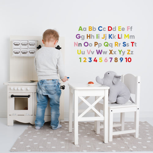 Alphabet & Numbers Wall Sticker