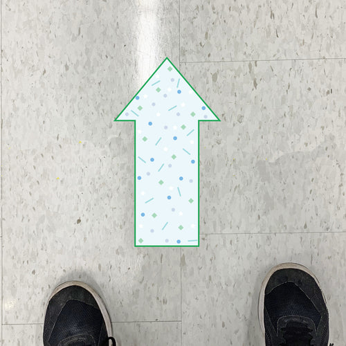 Scatter Arrow Floor Graphics