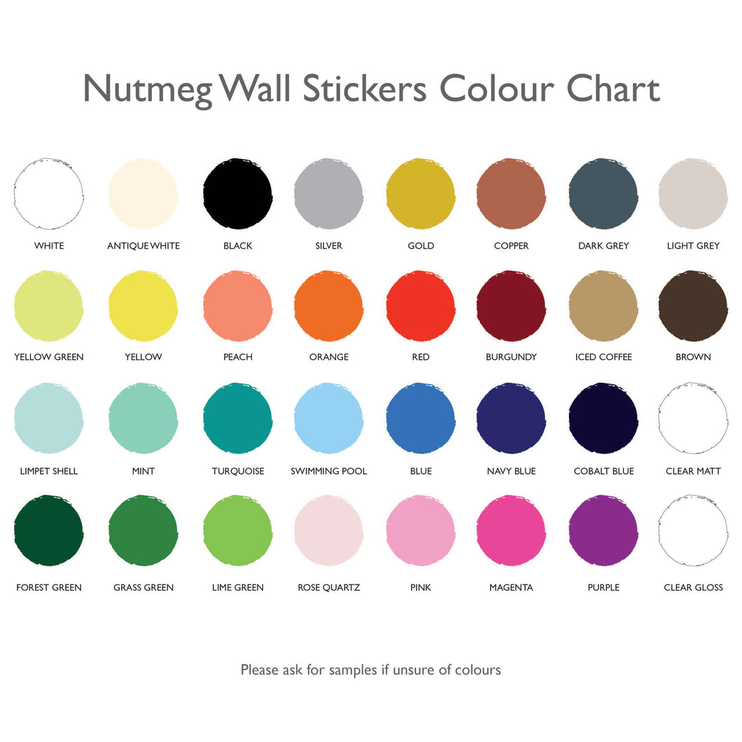 Zig Zags Wall Stickers Nutmeg Studio