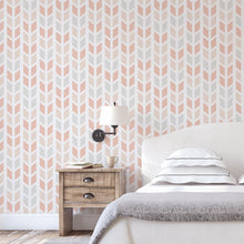 Coral Chevron Arrows Self Adhesive Wallpaper