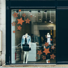 Christmas Stars Retail Window Vinyl