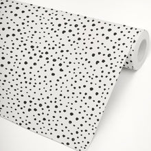 Black Dalmatian Dots Self-Adhesive Wallpaper