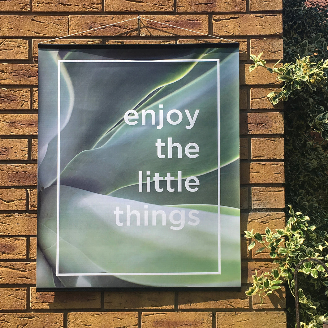 Enjoy The Little Things Botanical Outdoor Garden Poster bu Nutmeg Studio Wall Stickers