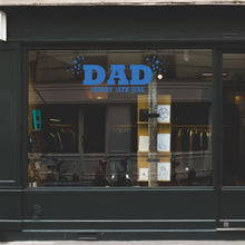 Dad Stars Father's Day Retail Shop Window Sticker Vinyl