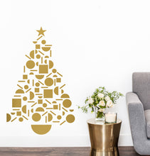 Geometric Christmas Tree Wall Sticker