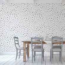 Grey Dalmatian Dots Self-Adhesive Wallpaper