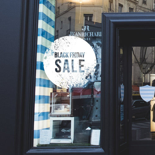 Grunge Black Friday Sale Retail Window Vinyl