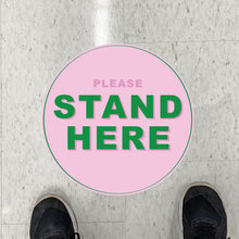 Hello Again Stand Here Floor Graphics