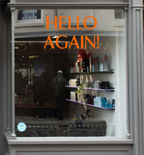 Simple Hello Again Coronavirus Retail Graphic Window Vinyl
