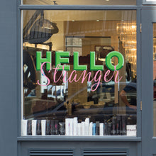 Hello Stranger Coronavirus Retail Graphic Shop Window Vinyl Sticker