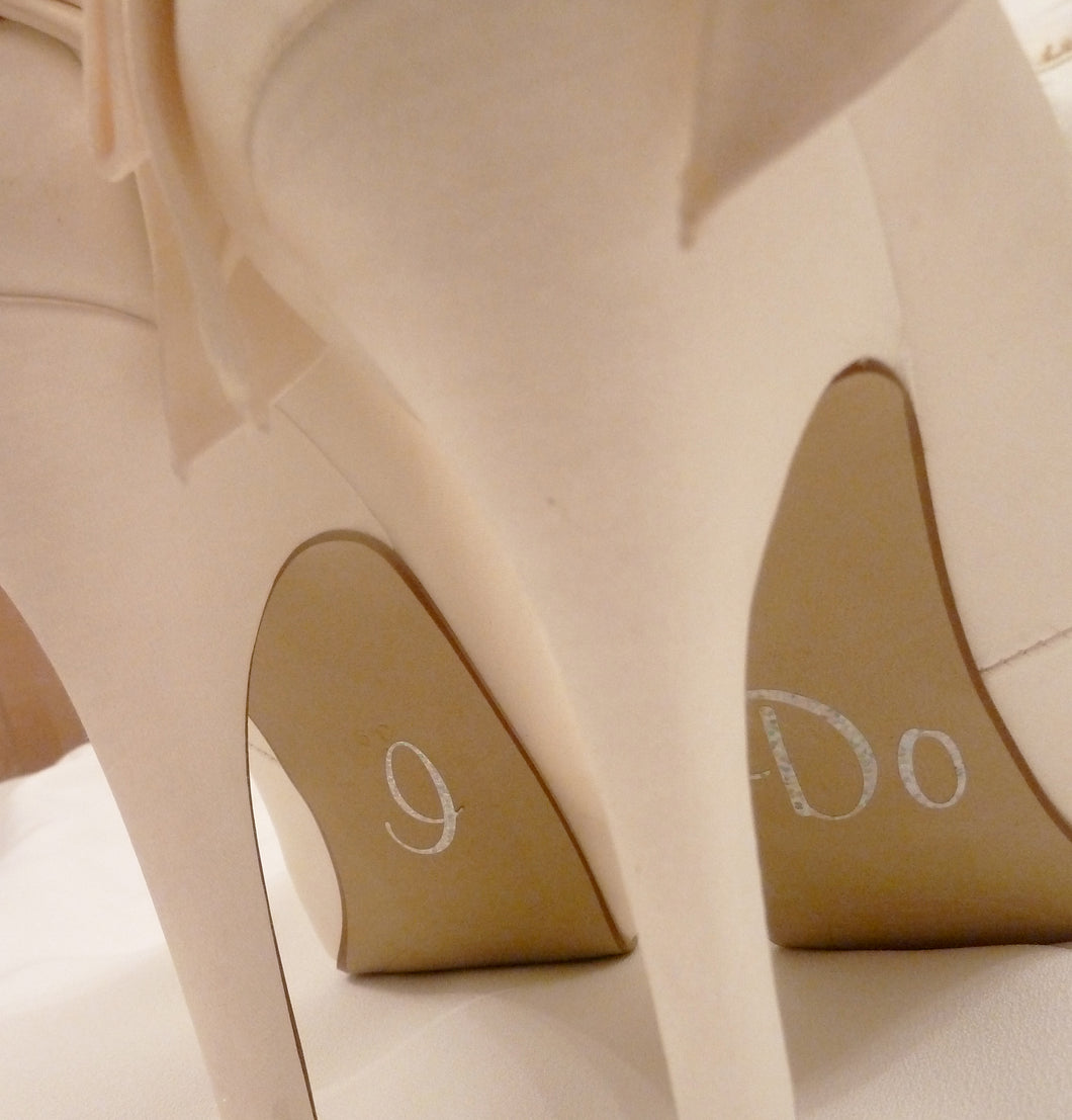 Wedding Shoe Stickers for Harriett Wilde