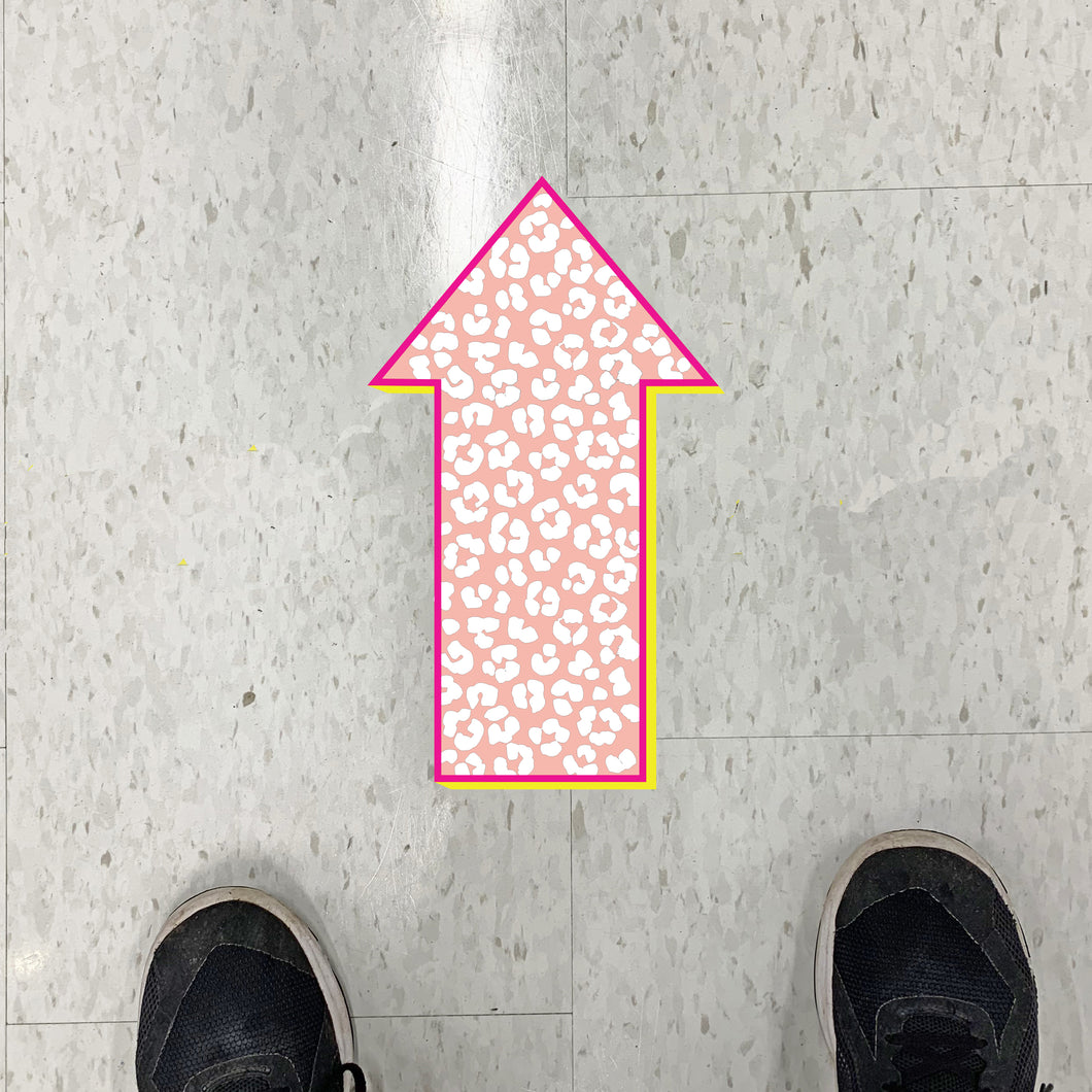 Leopard Print Arrow Floor Graphics