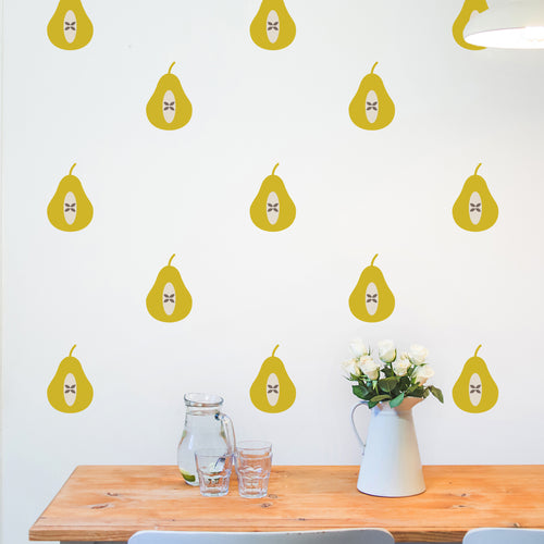 Set of 36 Pear Wall Stickers