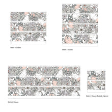 Pink And Grey Floral Furniture Stickers Ikea Hack For Ikea Malm Drawers