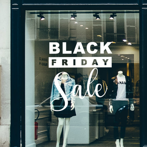 Black Friday Modern Sale Retail Shop Window Sticker Vinyl