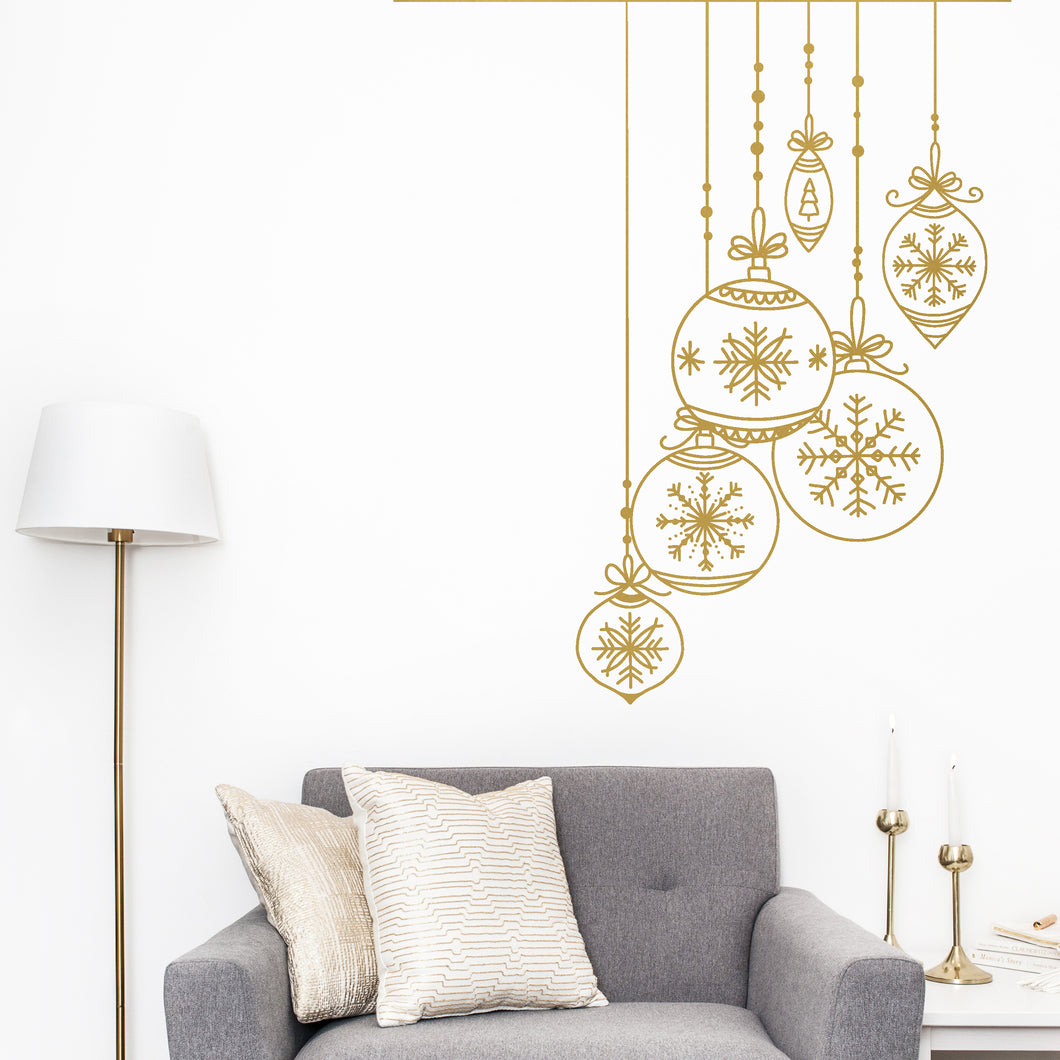 Oversized Christmas Baubles Wall Sticker