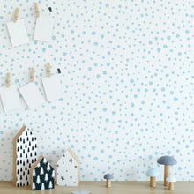Pale Blue Dalmatian Dots Self-Adhesive Wallpaper