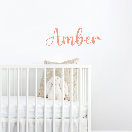 Personalised handwritten name wall sticker