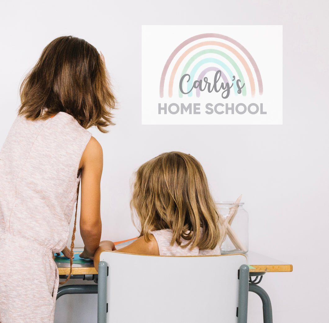 Personalised Homeschool A3 Poster