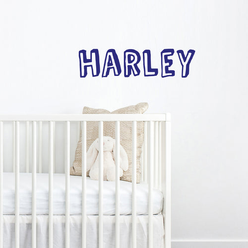 Personalised shadow name wall sticker