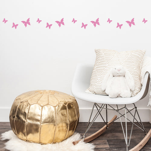 Butterflies stencil for Children's bedroom