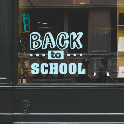 Back To School Retail Window Vinyl