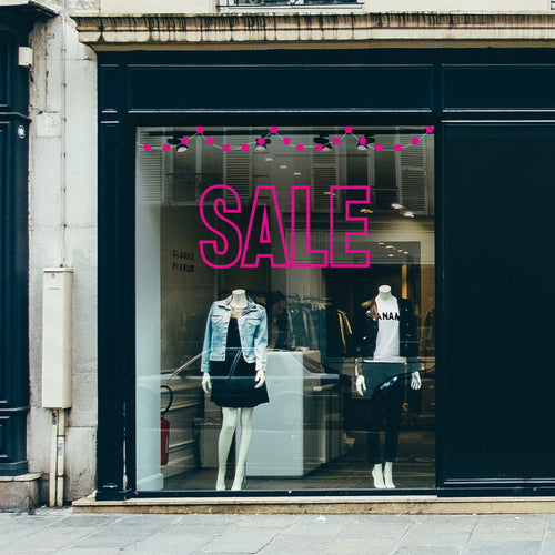 Outline SALE retail window vinyl