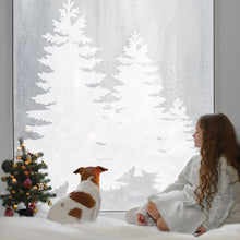 Winter Trees Festive Wall Sticker Set Of Three