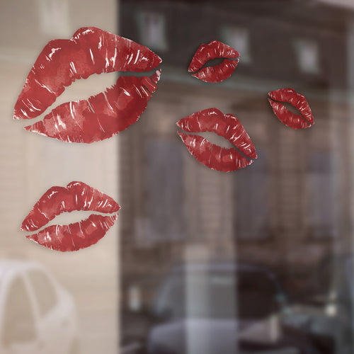 Set of five Lips Valentine Retail Graphics