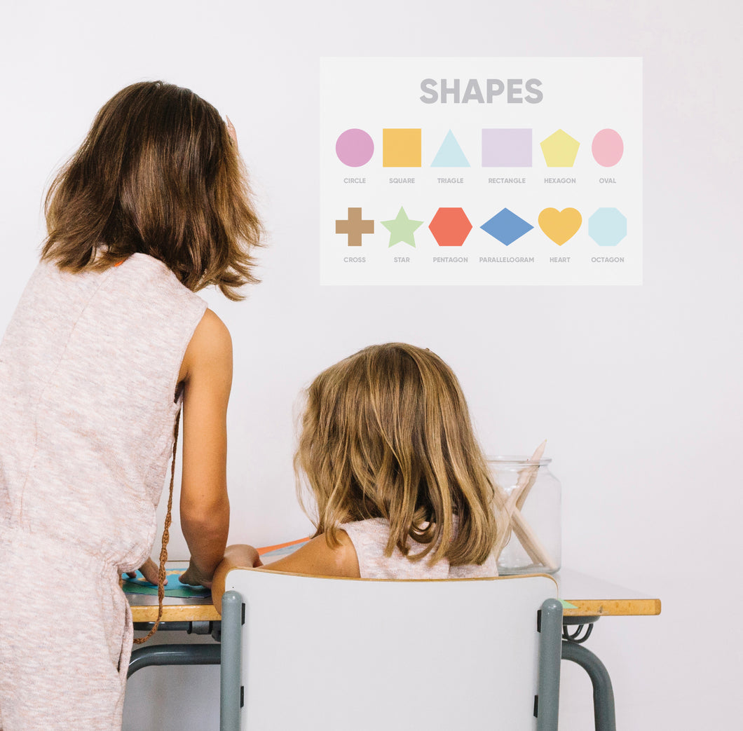 Shapes Homeschool A3 Poster