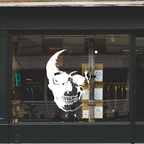 Skull Retail Window Vinyl