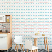 Geometric Sponge Mark Making Self Adhesive Wallpaper