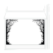 Spooky Trees Retail Window Vinyl