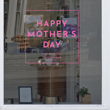 Square Mother's Day Retail Shop Window Sticker Vinyl