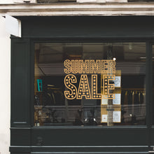 Summer Sale In Lights Retail Shop Window Sticker Vinyl
