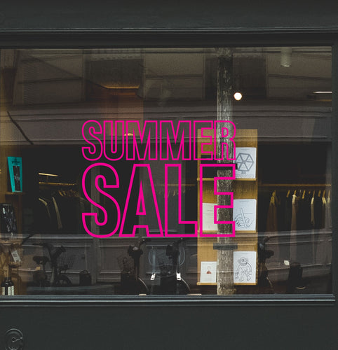 Bold Summer Sale Retail Shop Window Sticker Vinyl