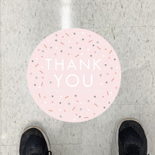 Scatter Thank You Floor Graphics