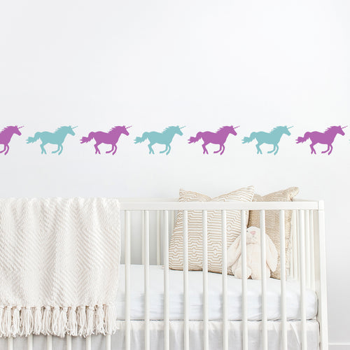unicorn stencil for children's bedroom