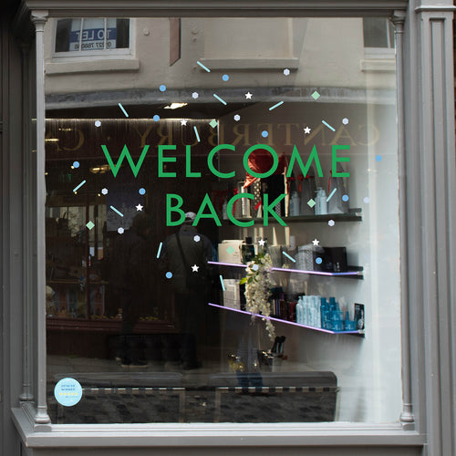 Welcome Back Scatter Coronavirus Retail Graphic Window Vinyl