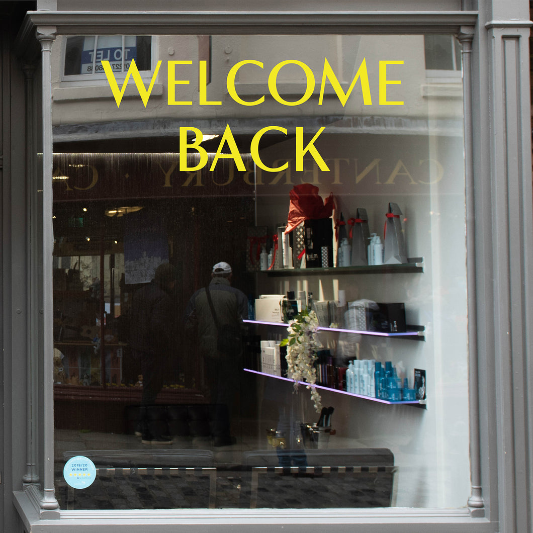 Welcome Back Coronavirus Retail Graphic Window Vinyl