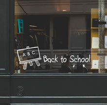 ABC Back To School Retail Window Vinyl - Nutmeg Wall Stickers