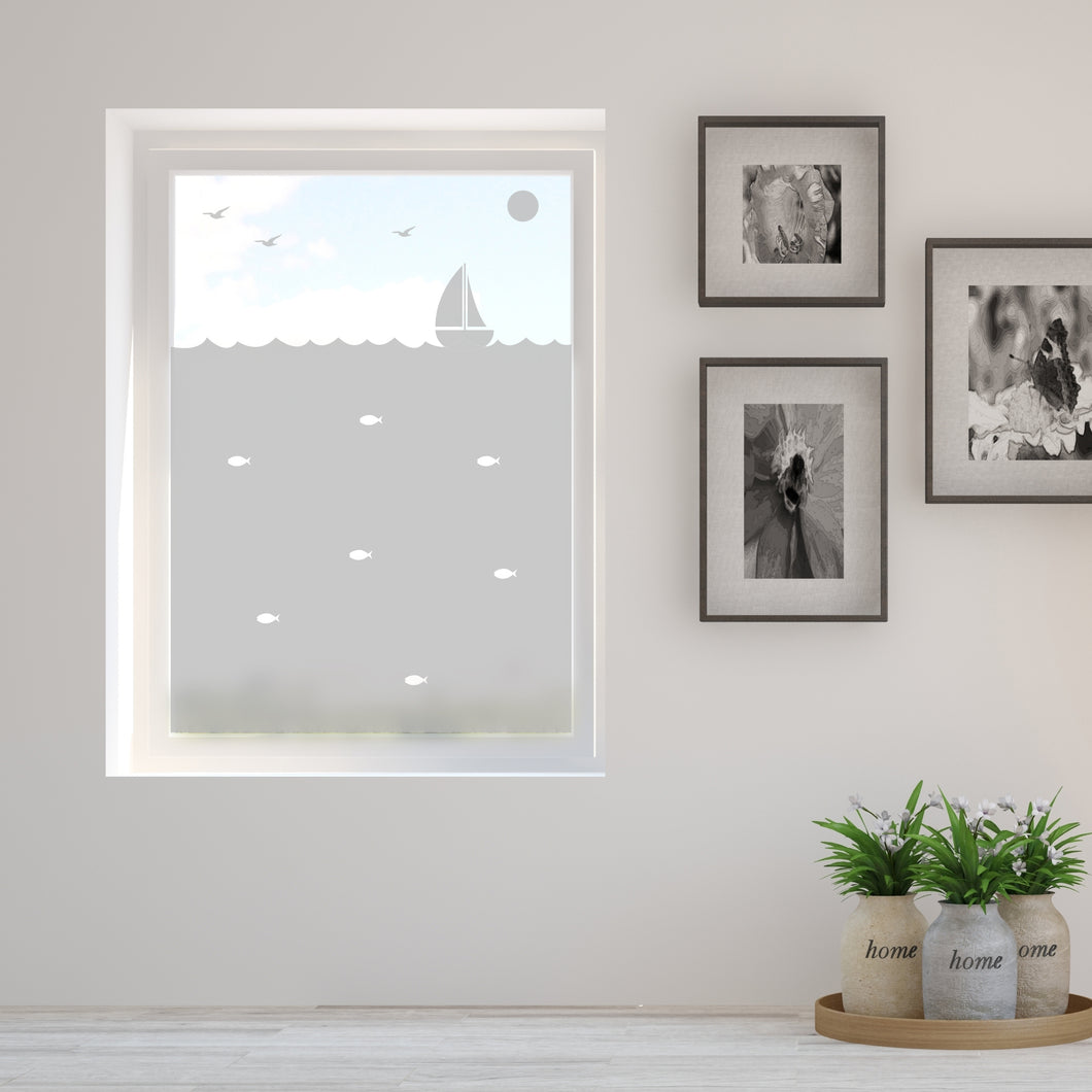 Little Boat Frosted Window Film