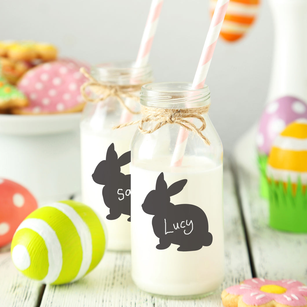Set Of Chalkboard Bunny Labels