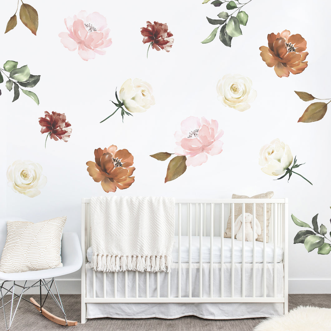 Cinnamon Floral Wall Sticker Mural