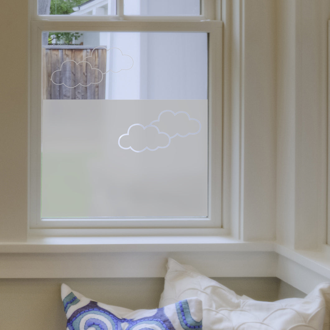 Clouds Frosted Window Film