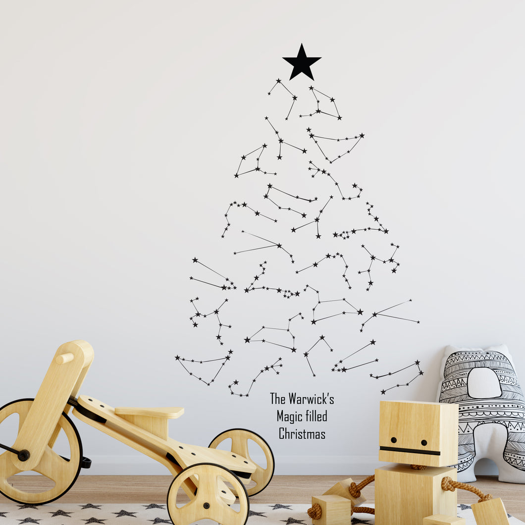 Personalised Constellation Christmas Tree Wall Sticker