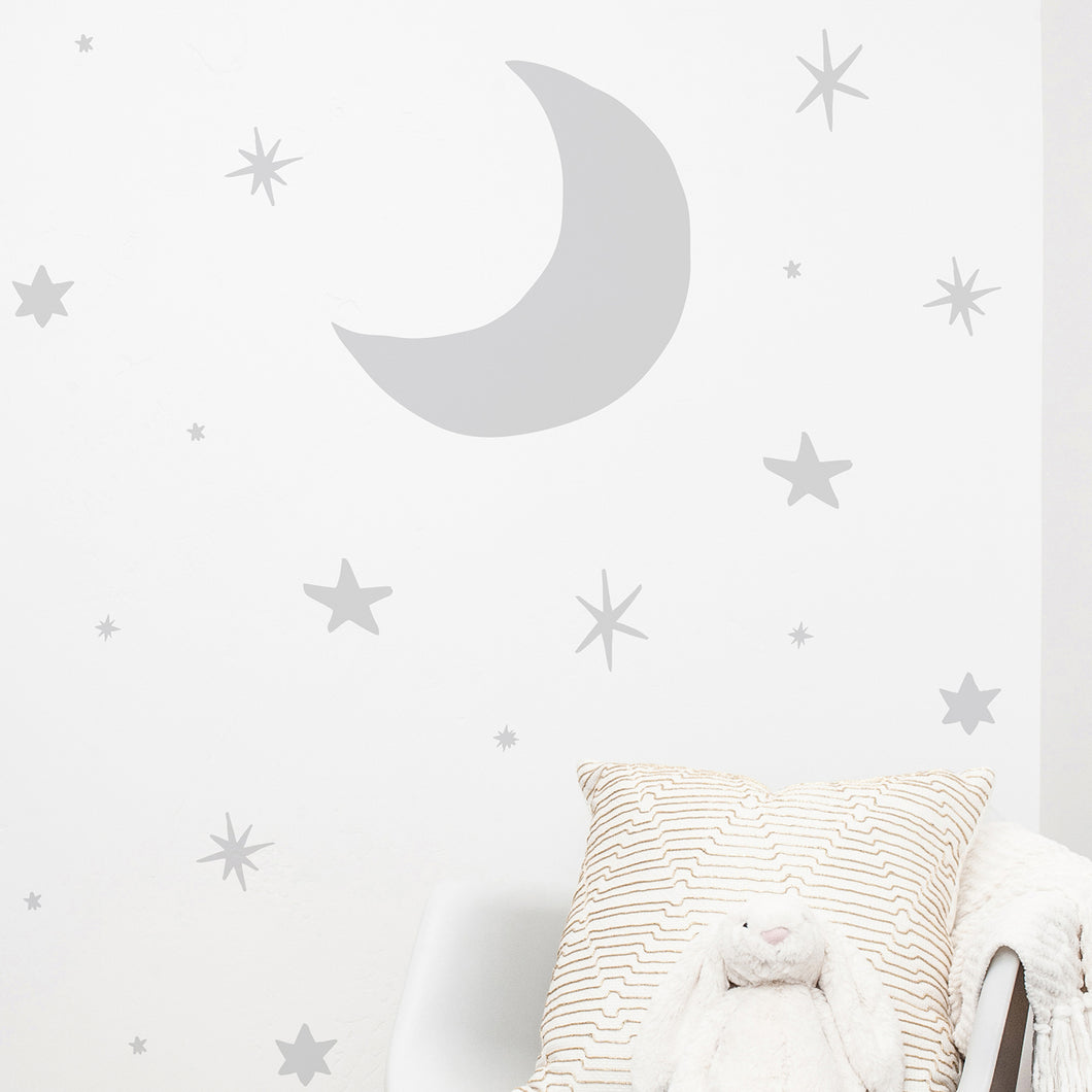 Doodle Stars and moon Wall Stickers