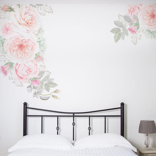 Pastel Florals Wall Sticker Set