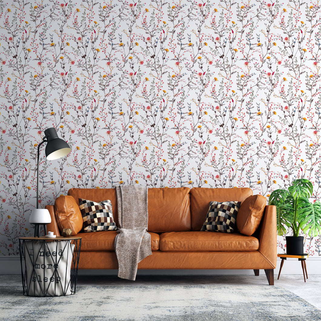 Floral Twines Self-Adhesive Wallpaper